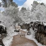 La Ciudad Encantada cubierta por un manto de nieve