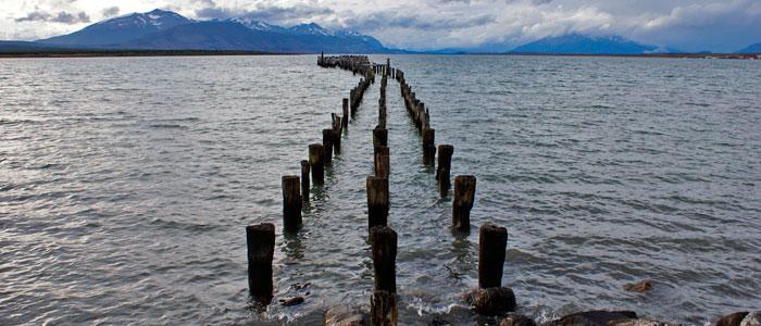 Embarcadero en Puerto Natales, Patagonia Chilena