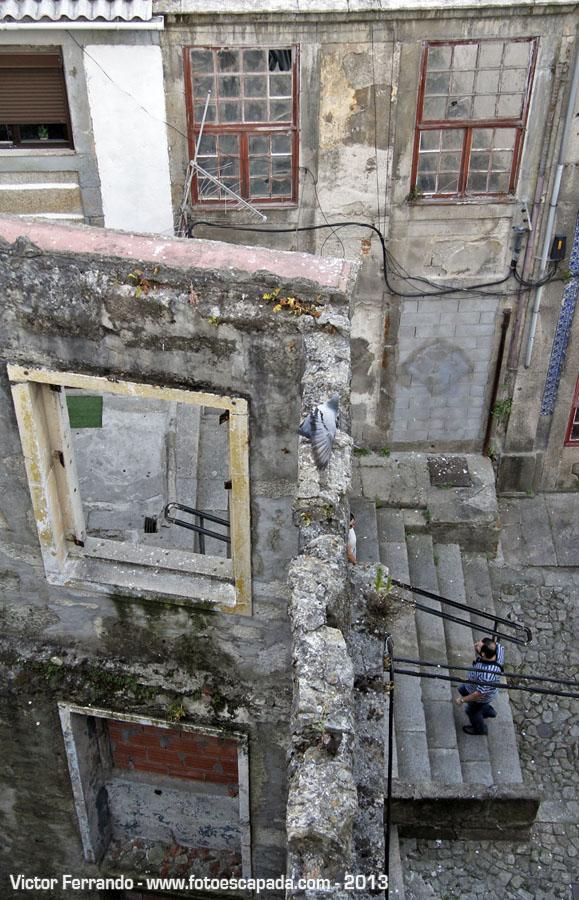 Viviendo bajo un puente en Oporto