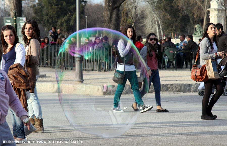Pompas de Jabón en el Retiro Madrid