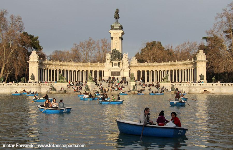 Estanque del Retiro Madrid
