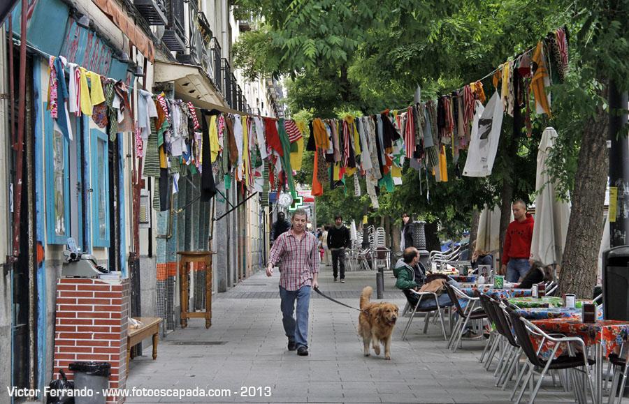Terrazas de la Calle Argumosa en Lavapies