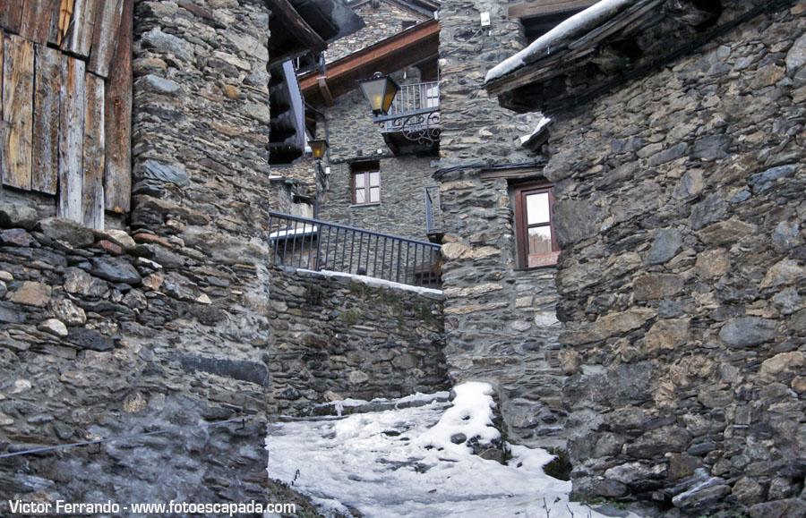 Calles nevadas en Andorra