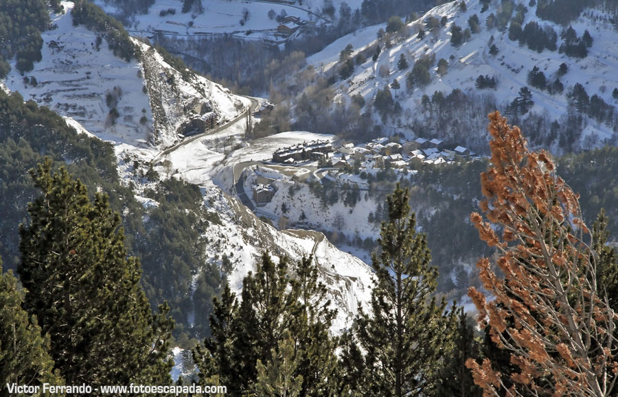 Carretera del Coll de la Botella en Andorra