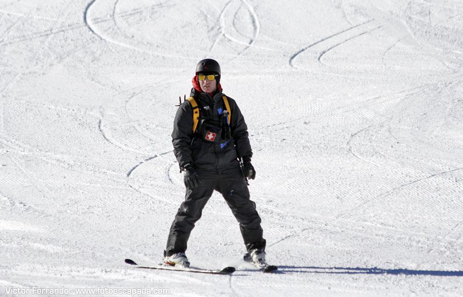 Esquiadores en Pas de la Casa Andorra