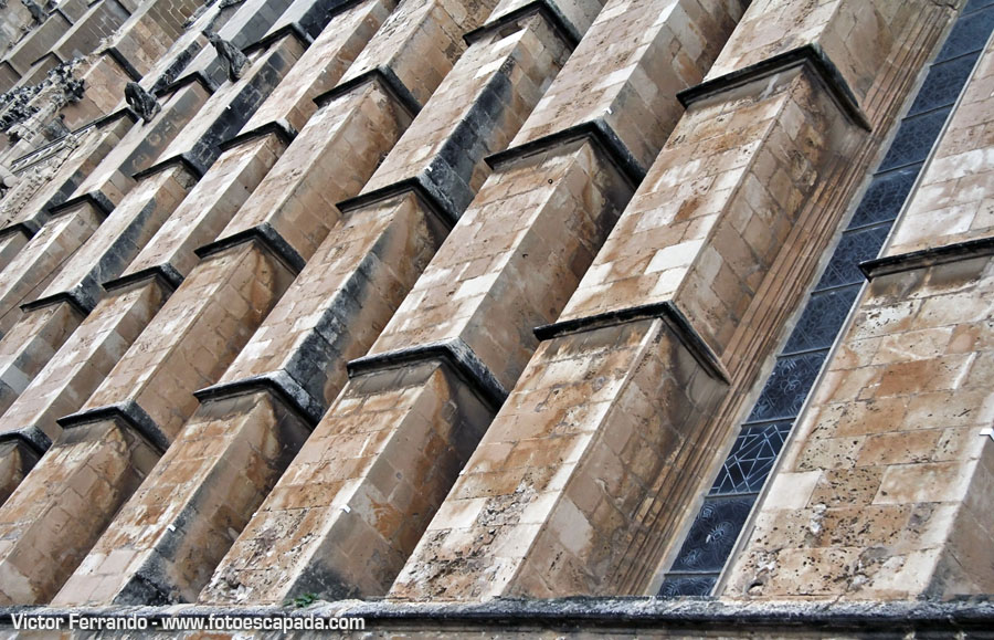 Fachadas de la Catedral de Palma de Mallorca