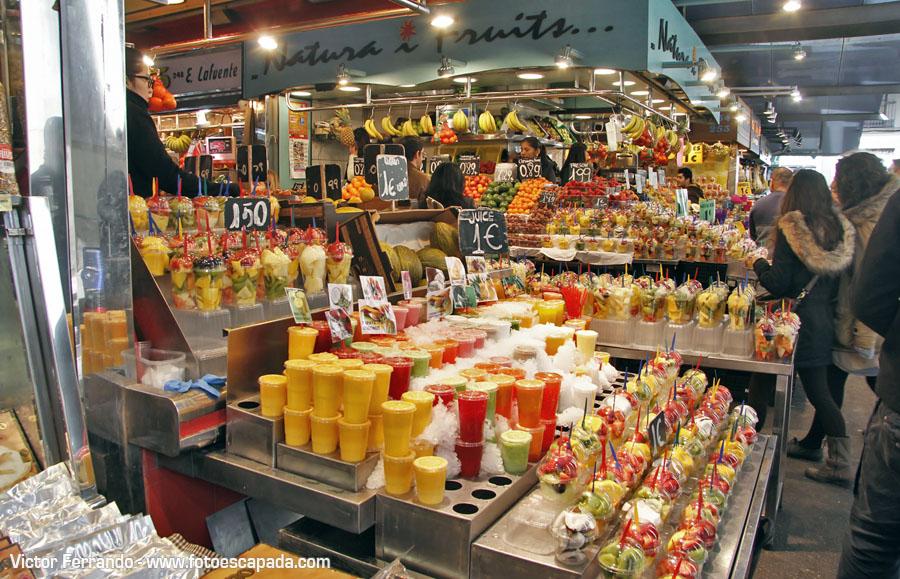 Helados en la Boquería Barcelona
