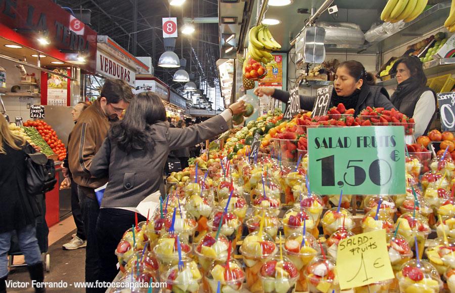 Salad Fruits en la Boquería Barcelona