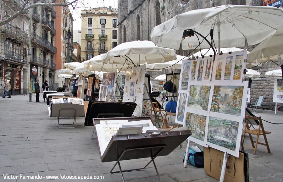 Plazas del Barrio Gotico Barcelona