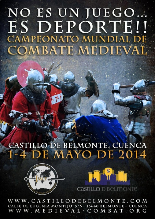 Cartel Campeonato Mundial de Combate Medieval