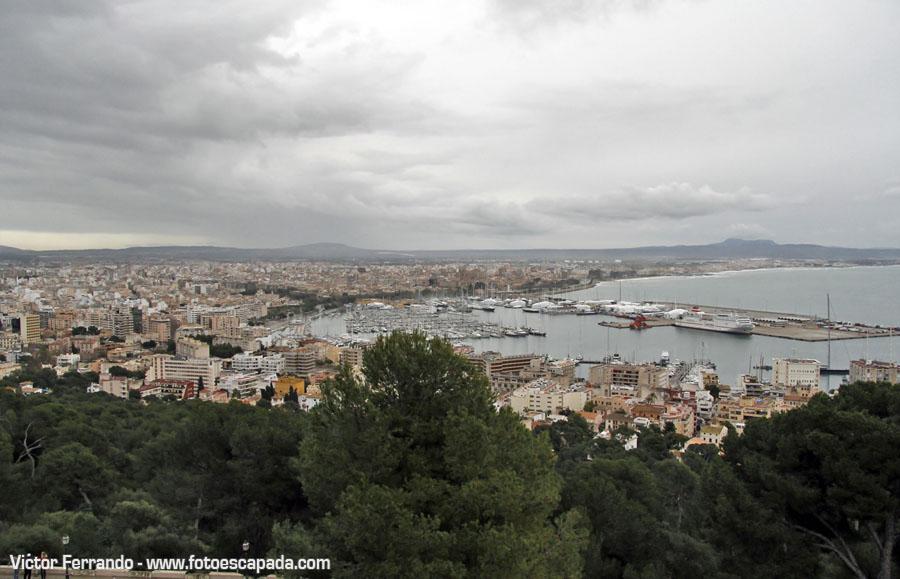 Vistas de Palma de Mallorca desde el Castillo de Bellver