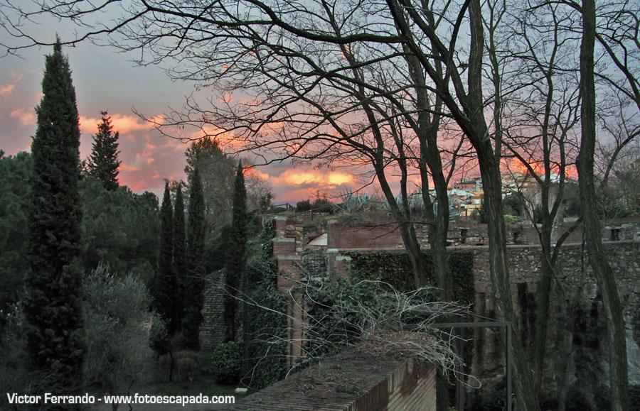 Puesta de sol en Girona