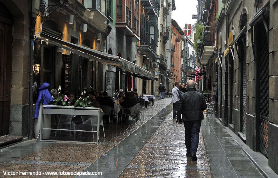 Fotografiando bajo la lluvia en Bilbao
