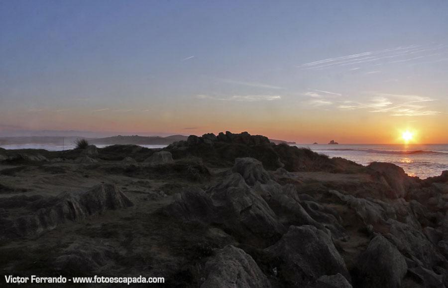 Puesta de Sol en el Parque Natural de las dunas de Liencres y Estuario del Pas