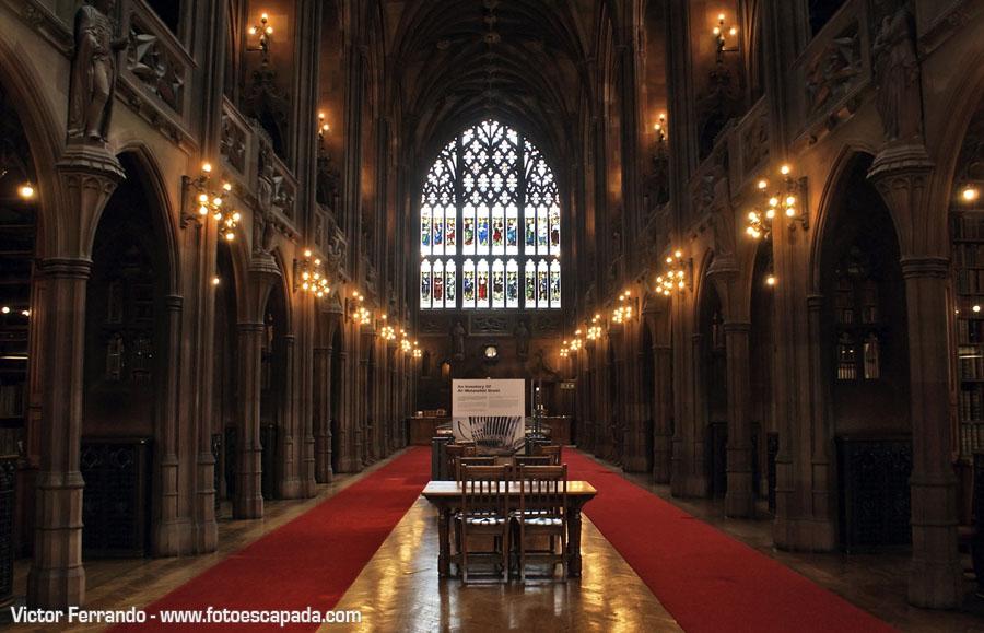 Biblioteca John Rylands de la Universidad de Manchester