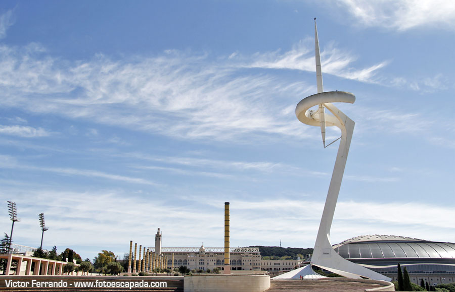 Torre de Telecomunicaciones de Calatrava en Montjuic