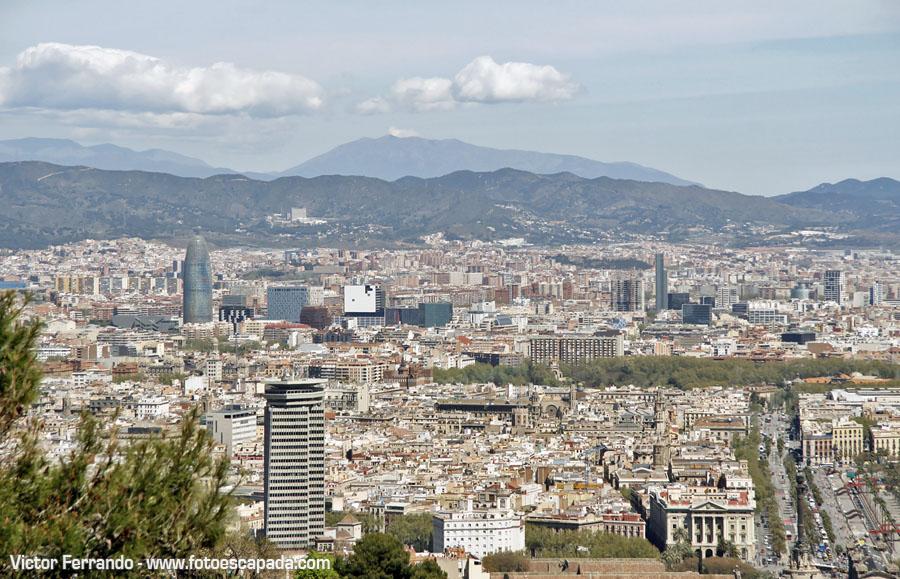 Vistas de Barcelona desde Montjuic