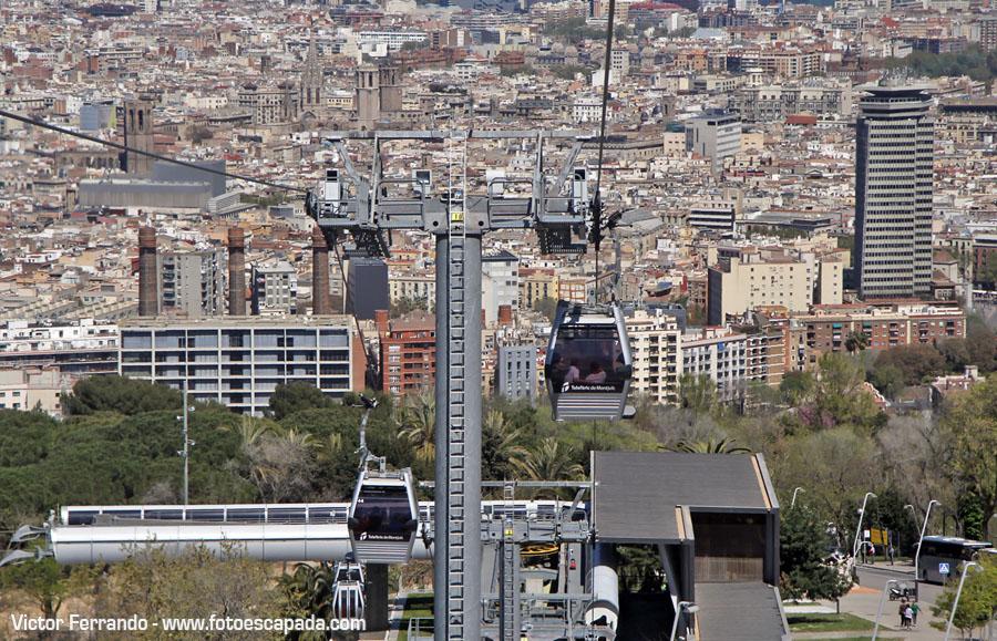 Vistas de Barcelona desde el Teleférico