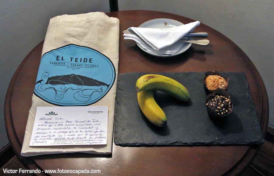 Detalle de Bienvenida en el Parador de las Cañadas del Teide Tenerife