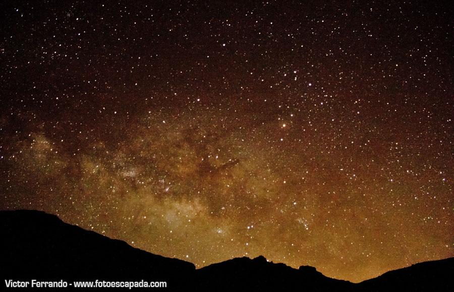 Observación de estrellas en el Parque Nacional del Teide Tenerife