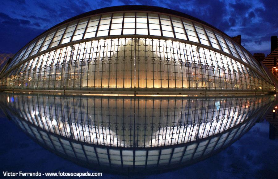 Hemisferic en la Ciudad de las Ciencias de Valencia