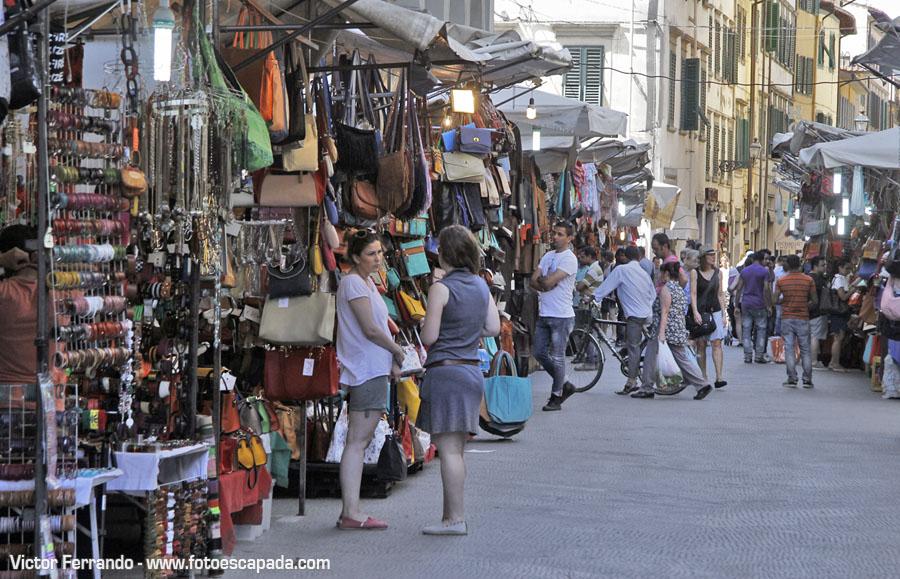 Calles cercanas al Mercado Central de Florencia