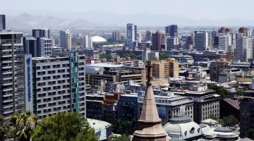 Santiago de Chile desde el Cerro Santa Lucia