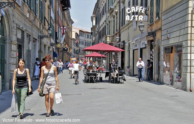 Calles peatonales de Pisa