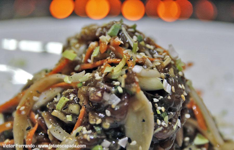 Carne para barbacoa en Restaurante Maru Coreano Madrid2