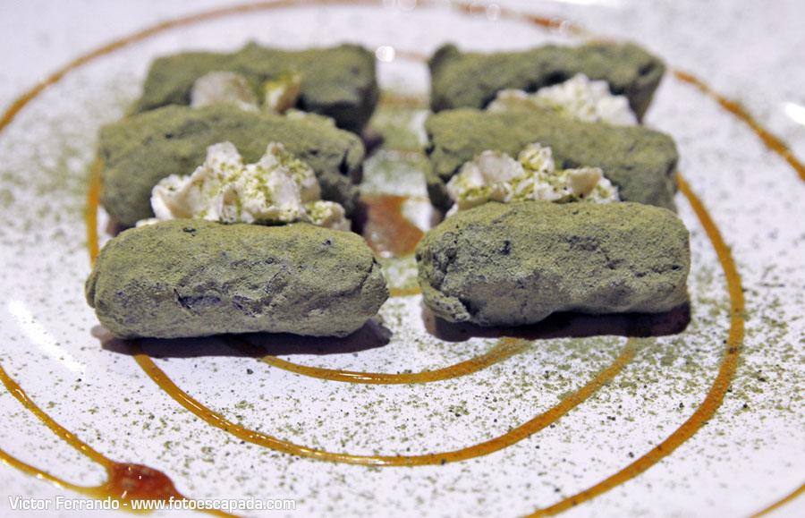 Trufas de te verde Restaurante Maru Coreano Madrid