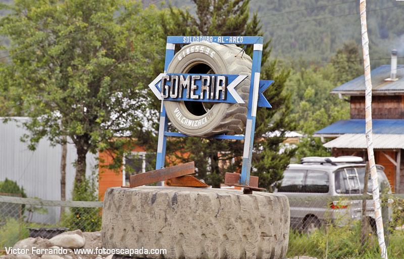 Gomería en Puyuhuapi