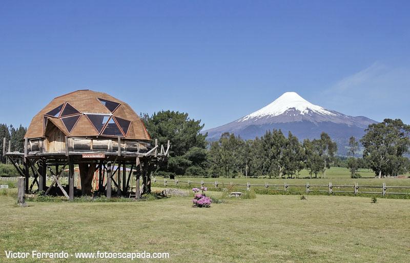 Domo cerca del Volcán Osorno