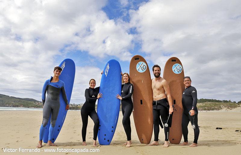 Surf en la Playa de Doñinos Ferrol