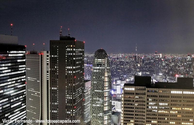 Skyline de Tokyo por la noche