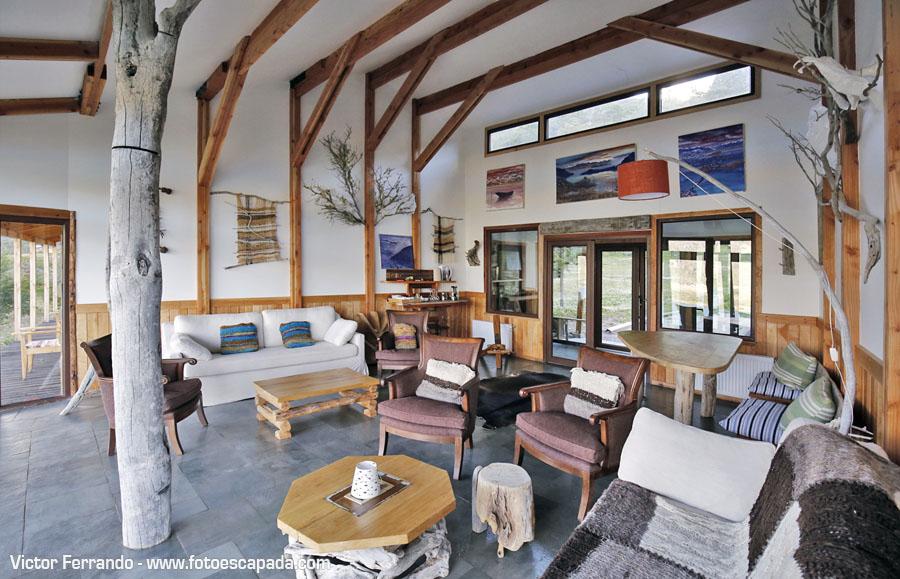 Mallin Colorado Casa Lenga salón