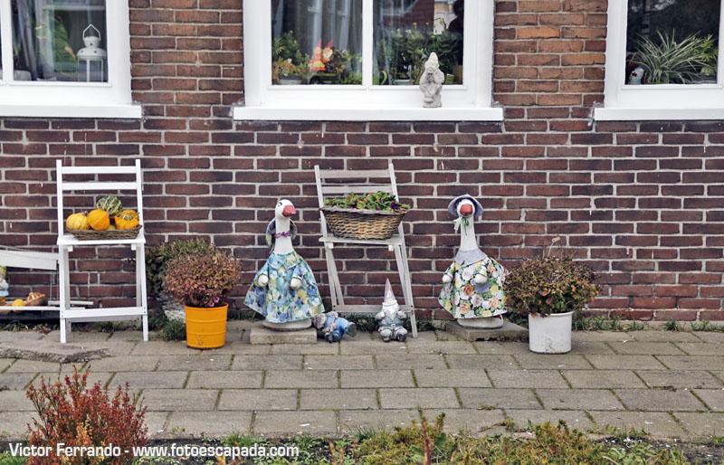 Detalles decorativos en las casas de Waterland