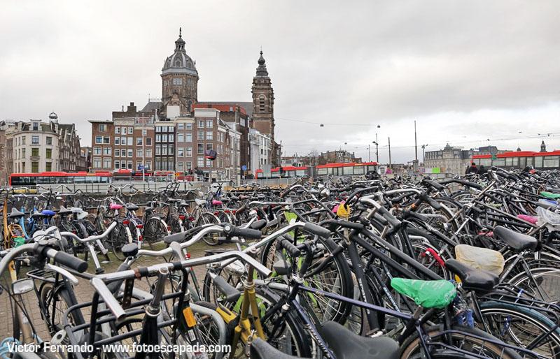 Bicicletas en Ámsterdam