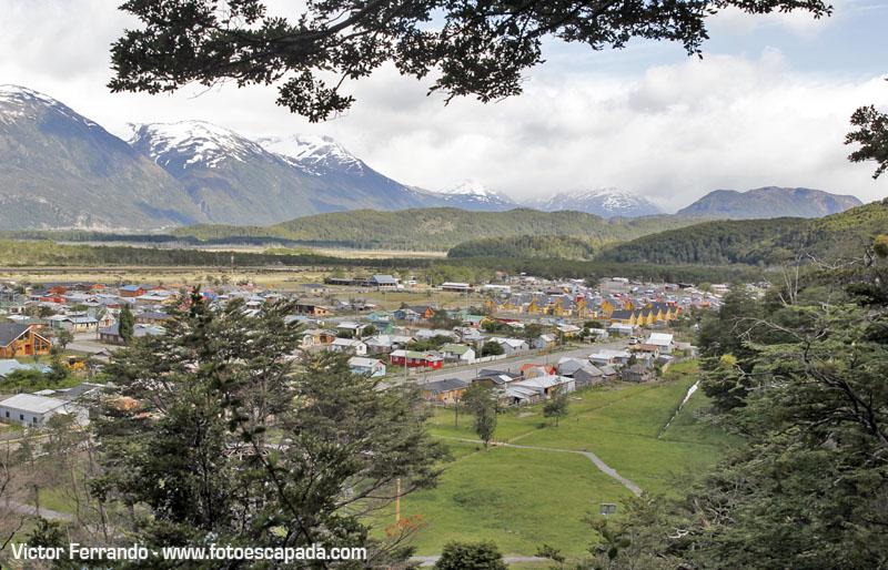 Villa O´Higgins desde el Cerro Santiago