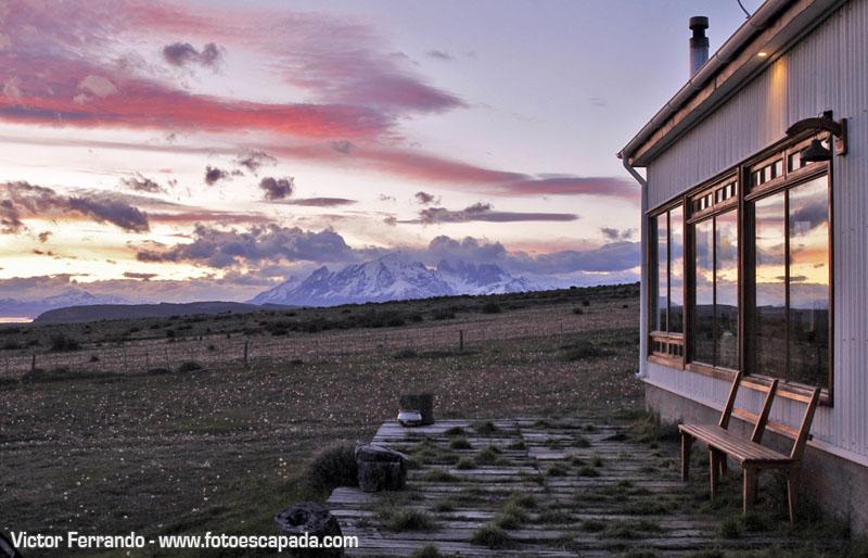 Puesta de sol Torres del Paine desde Cerro Guido