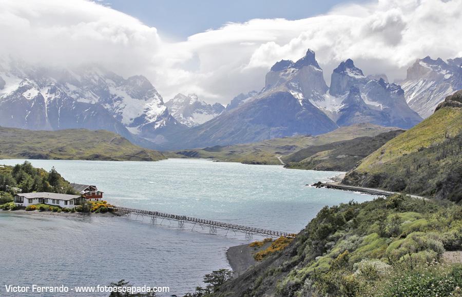 El Lago Pehoé y los Cuernos del Paine