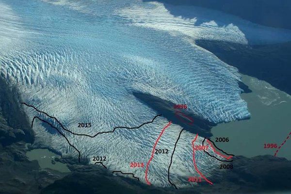 Retroceso del Glaciar Grey