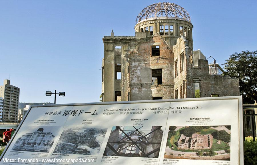 Edificio Cúpula Genbaku en Hiroshima